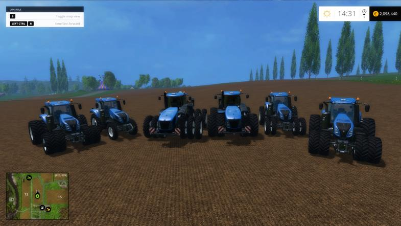 new holland t series tractors mod